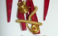 set cercei inel si colier - red UNICAT