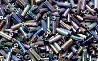 Margele de nisip vitrail metalic tubulare 2 x 6 mm