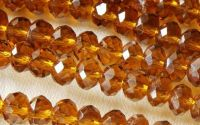 Rondele cristal fatetat Topaz 6 x 8 mm