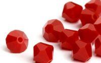 10 Margele cristal biconic 4 mm rosu catifea
