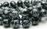Sfere obsidian snowflakes 10 mm