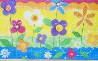 706 Servetel flori curcubeu