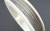 Sarma otel siliconata argintie - 0.45 mm