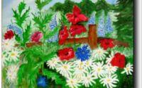 Gradina mea cu flori -pictura