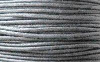 Snur circular bumbac cerat gri 1 mm