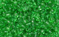 Margele de nisip verde translucid 2mm 10g