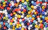 8g margele sticla colorate pt bijuterii 3mm 250buc