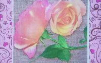 775 Servetel trandafiri roz