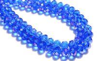 Rondele cristal fatetat 6 x 8 mm - albastru AB