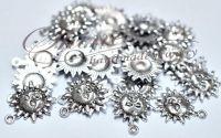 Charm soare argintiu antichizat