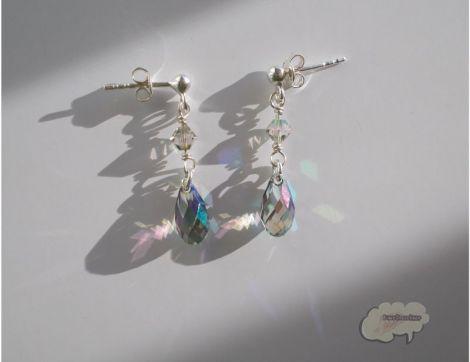 Cercei din argint si cristale  Swarovski