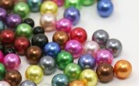 100buc Margele acril imitatie perle rotunde 7mm