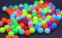 100buc Margele acril rotunde multicolor circus 6mm