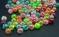 100 Margele acril AB color transparente sfera 6mm