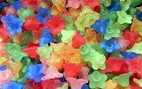 100buc Margele acril floare multicolore 10x5mm
