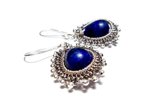 """Cercelusi lapis lazuli """"Royal Lapis"""""""