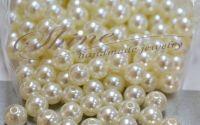 Margea perla din acril Ivory 10mm