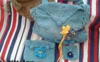 Set crosetat de plaja - Geanta portfard portofel
