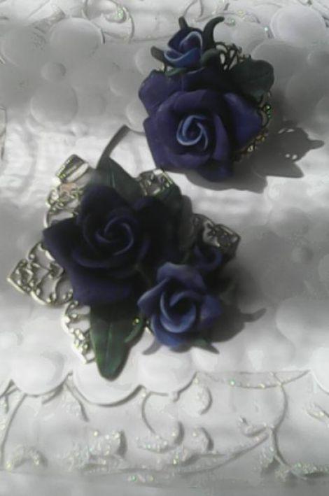 set trandafiri albastri