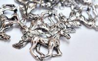 Pandantiv cal argintiu antichizat