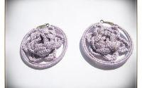 Cercei lila crosetati- 2