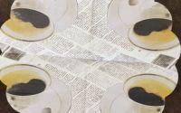 817 Servetel rotund cafea