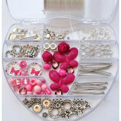 Kit margele si accesorii bijuterii cu 130 piese