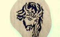 Isus - pirogravura
