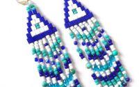 Cercei turcoaz si albastru