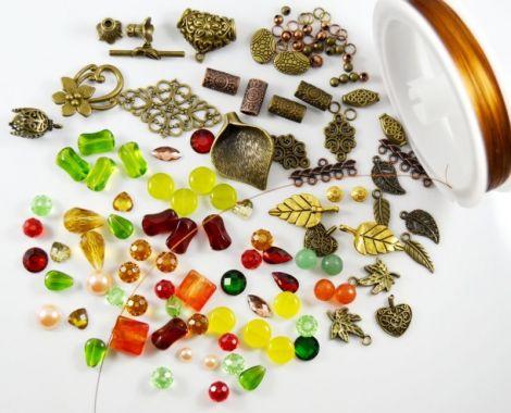 Lot pietre semipretioase si accesorii metalice