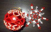 Set handmade glob si fulg de nea