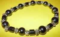 bratara unisex - black and silver