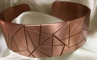 Bratara din cupru forme geometrice