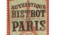 Tablou Reclama Retro Bistrot Paris