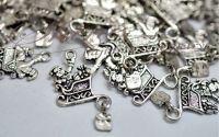 Charm sanie argintiu antichizat
