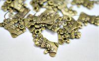 Charm soseta cu cadouri bronz antichizat