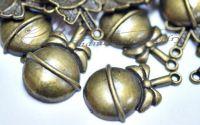 Pandantiv glob bronz antichizat
