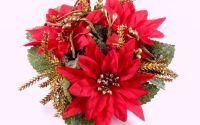 6363 - 2buc Buchetel flori decorative craciunite