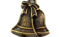 Charmpandantiv clopotei craciun bronz 22 x 17 mm