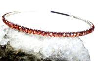 Tiara cu cristale maronii