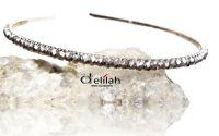 Tiara mirese cu cristale argintii
