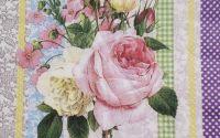 844 Servetel buchet de trandafiri