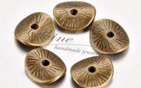 Distantier disc ondulat bronz antichizat