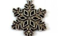 Charmpandantiv fulg de zapada argintiu 24 x 19 mm