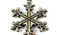 Pandantiv fulg de zapada argintiu 28 x 22 mm