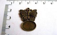 Baza pandantiv bronz fluture