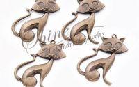 Pandantiv pisica bronz 48x31mm