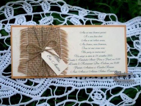 Invitatie rustica