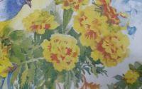864 Servetel flori si pasari