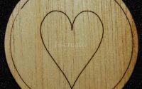 Figurina lemn pentru pictat Inima - L0238